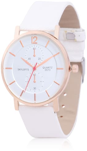 Skylofts 35mm White Dial Analog Watches for Women