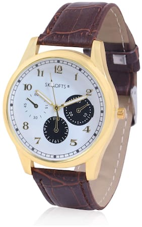 Skylofts Analog Black & Gold Dial Casual Watches for Boys & Men