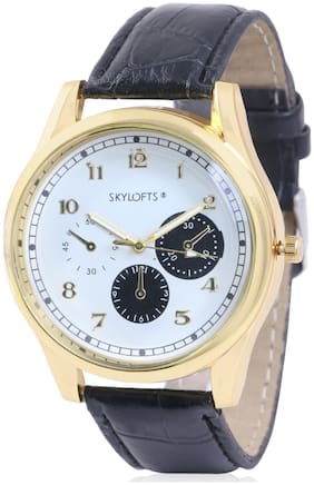 Skylofts Analog Gold Dial Men's & Boys Watches Casual Wear