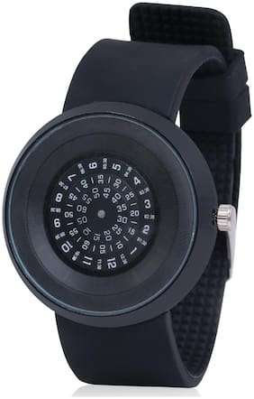 Skylofts Centre Rotating Time Machines Black Dial Watches for Men & Women