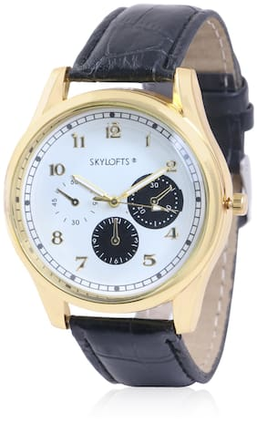 Skylofts Gold Dial Analog Men's & Boy's Watches for Colleges
