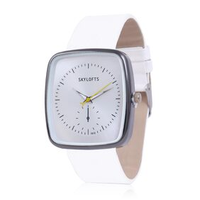 Skylofts Square Dial Analog Women watches White Dial Watches for Ladies