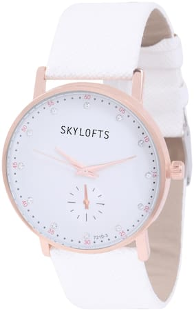Skylofts Stylish White Dial Fabric Strap Casual College Watches for Girls
