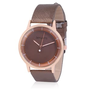Skylofts Stylish Fabric Strap Brown Dial Casual Watches for Girls & Women