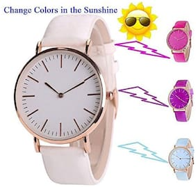 Skylofts UV Solar Light Color Changing Discoloration Kids Wath Watch - For Boys & Girls