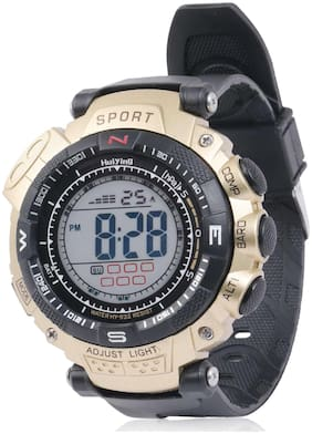 Skylofts Waterproof Gold Digital Watch For Boys LED Watches for Men With Multiple Features