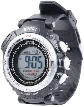 Skylofts Waterproof Silver Dial Digital Watch For Boys LED Watches for Men With Alarm