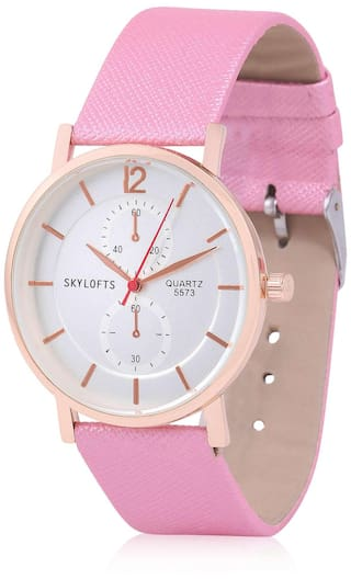 Skylofts White Dial Analogue Women's Watch & Girls Watches
