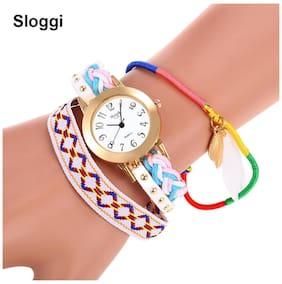 Sloggi Chic Women Quartz Watch Fabric Band Bracelet Wristwatch