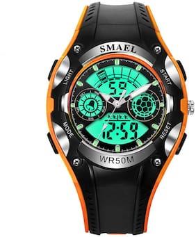 Unisex Black Analog-Digital Watch