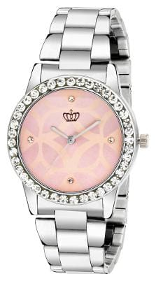 Smael Stainless Steel Strap Pink Dial Analogue Watch For Women's & Girl's-(CSM51)
