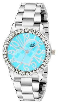 Smael Stainless Steel Strap Blue Dial Analogue Watch For Women's & Girl's-(CSM52)