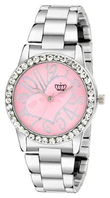 Smael Stainless Steel Strap Pink Dial Analogue Watch For Women's & Girl's-(CSM54)