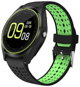 Smart Watch V9 Bluetooth Smartwatch Compatible with All Mobile Phones for Boys and Girls (GREEN)