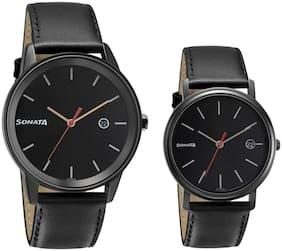 Unisex Black Couple Watch