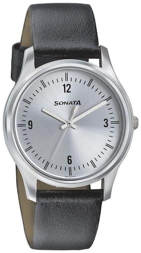 Sonata 77082SL01 Men Watch