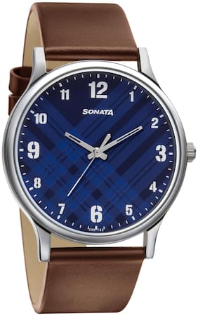 Sonata Blue Analog Watch For Men
