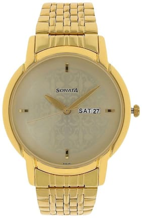 Sonata NH77031YM04 Men Analog with Day and Date Watches