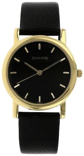 Sonata NJ7987YL03W Men Analog watch