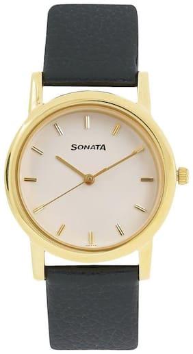 Sonata NJ7987YL02W Men Watch