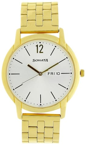 Sonata NK77031YM06 Men Analog with Day and Date Watches