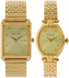 Sonata NL70078083YM02 Analog Watch For Couple
