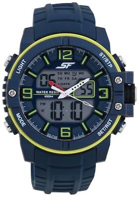 Men Clear Analog-Digital Watch