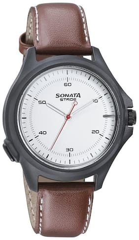 Sonata Stride Hybrid Smart Watch for Men with Activity Tracker;Call Notifications;Camera Control