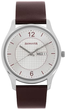 Sonata 77082SL02 Men Watch