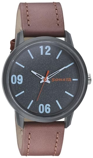 Sonata 77085PL01 Watch  Men