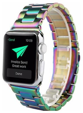 Stainless Steel Metal Bracelet Strap w classical buckle for Apple Watch 12345
