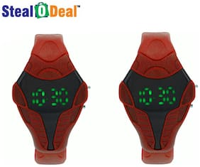 Stealodeal 2pc Red Cobra Shape Led Watch