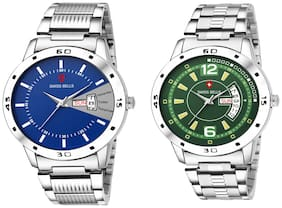 Svviss Bells Day and Date Display Pack of 2 Chronograph Multicolour Dial Wrist Watches - TA-1125