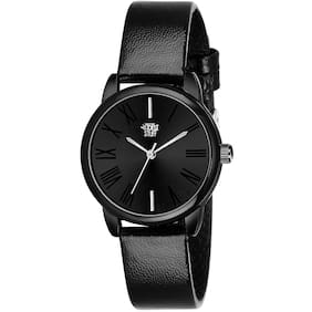 Swadesi Stuff Black Dial Analog Leather Strap Watch for Women
