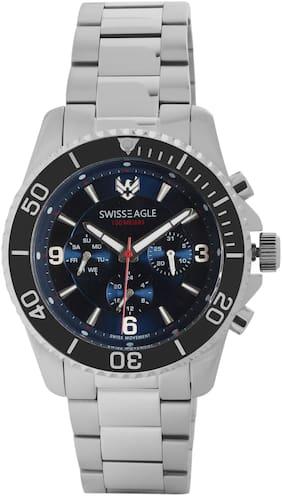 Swiss Eagle Multifunctional Blue Dial Men's Watch