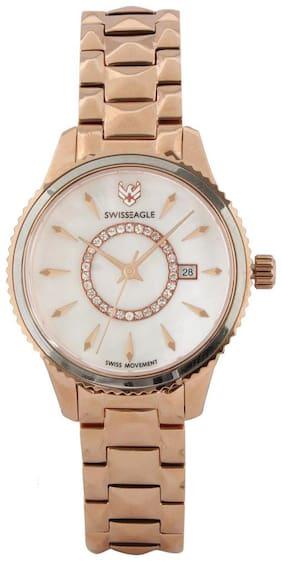 Swiss Eagle Analog White Dial Women's Watch