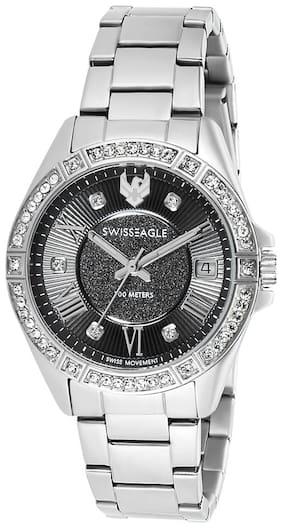 Swiss Eagle Analog Grey Dial Women's Watch