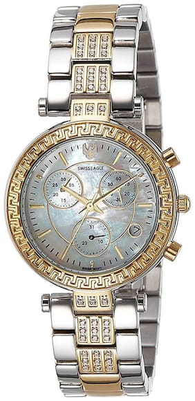 Swiss Eagle Chronograph Mother of Pearl Dial Womens Watch