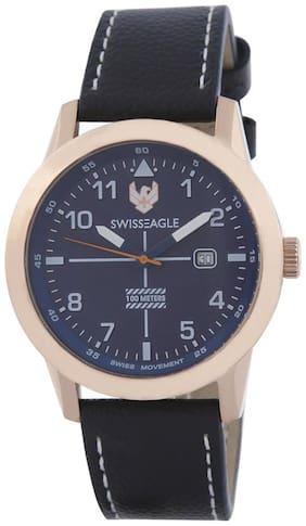 Swiss Eagle Analog Blue Dial Men's Watch - SE-9122-02