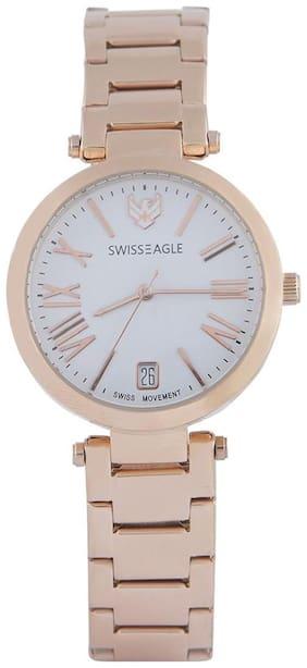 Swiss Eagle Analog white Dial Women Watch- SE-9119-22