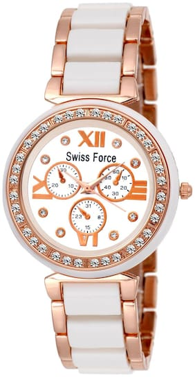 Swiss Force Rose Gold Young Choice Analog Watch- for Girls & Women