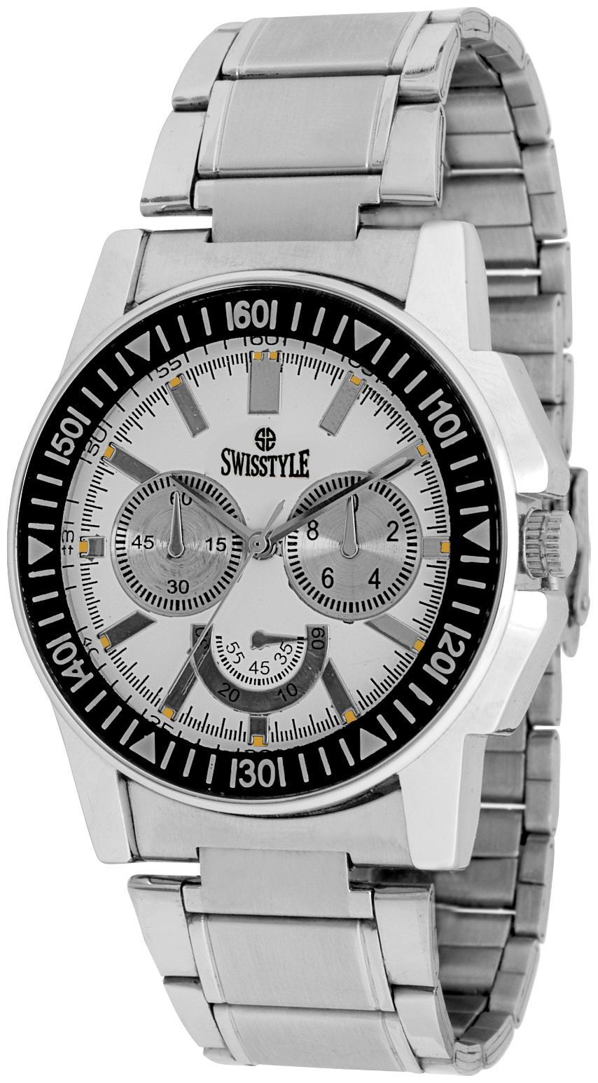 Swisstyle Analog Watch For Men Ss gr1221 wht ch