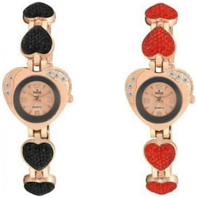 Swisstyle Analog Combo Watches For Couple;Ss-7005b-7005r