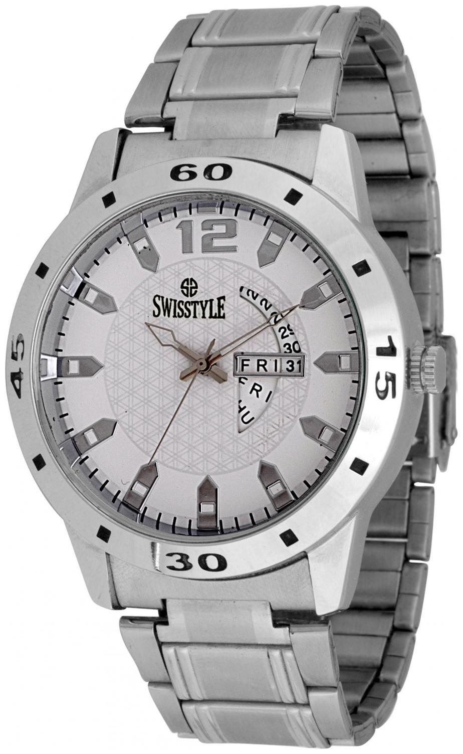 Swisstyle Analog Watch For Men Ss gr1184 wht ch by Ebiz Solutions