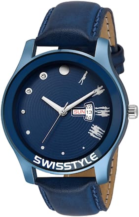 Swisstyle Blue Day and Date Watch-SS-MV006