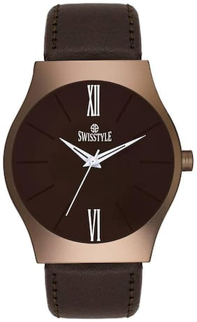 Swisstyle Brown Dial Mens Analog Watch-SS-GR009-BRW-BRW