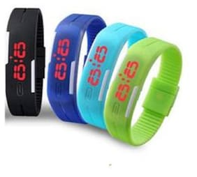 Swisstyle Assorted Unisex Silicone Led Band(1 pc)