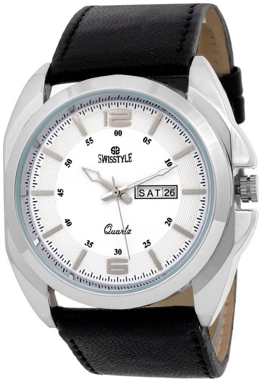 Swisstyle SS GR140 WHT BLK analog watch for men