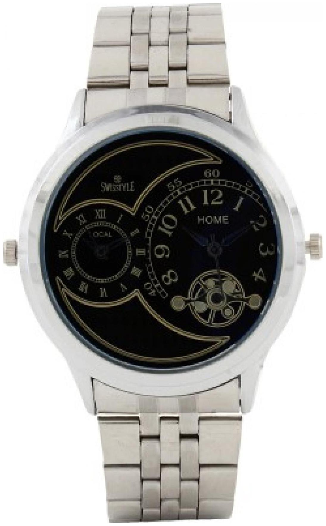 Swisstyle SS GR161 BLK CH Dual time analog watch for Men