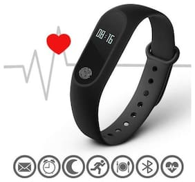 SYSTENE Fitness Band for M2 Bluetooth Intelligence Health Smart Wrist Band | Heart Rate Sensor | Call;Message Notification | Step Count Compatible with All Android;iOS & Windows Device
